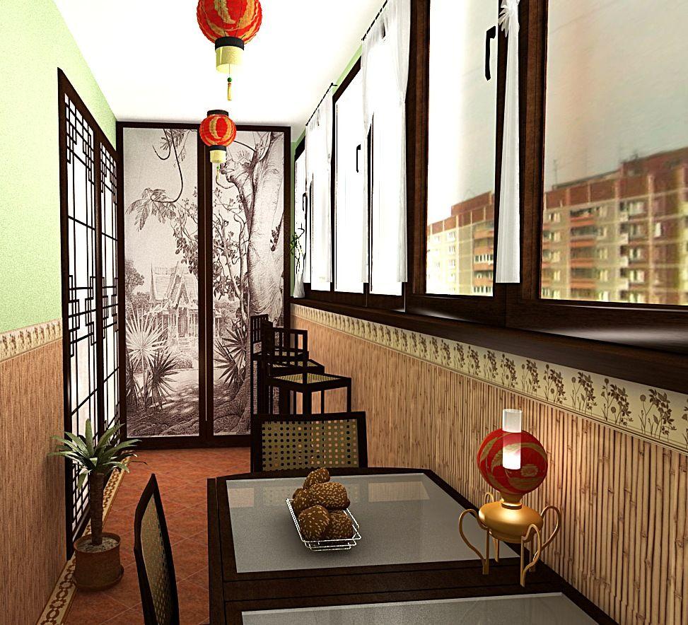 столовая на балконе