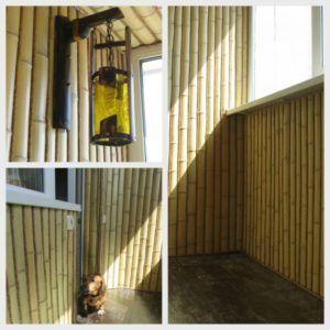 Балкон бамбуком