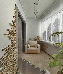 балкон под камень