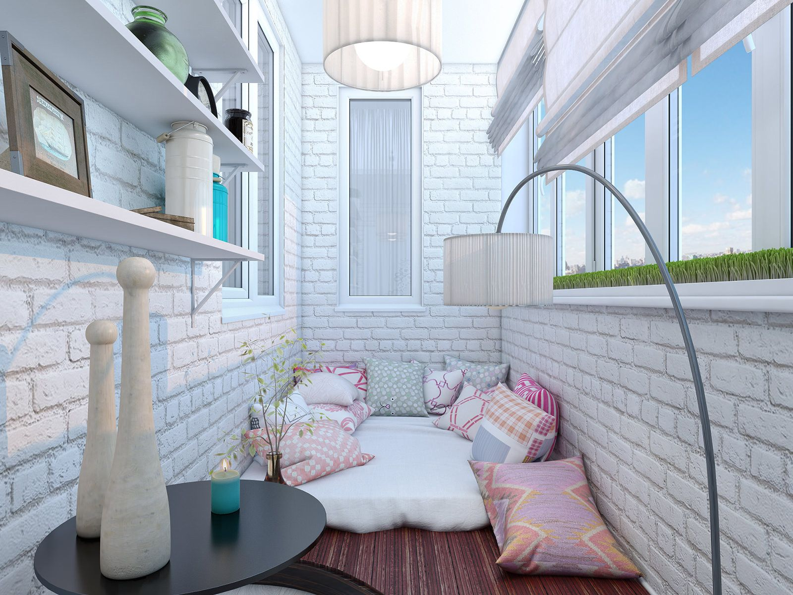 лаунж на балконе