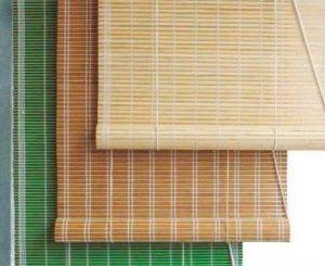 римские шторы бамбук