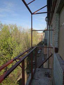 каркас балкона