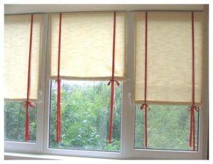 рулонные шторы руками