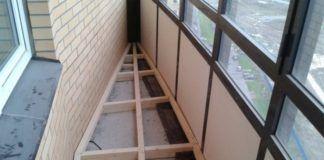 пол балкон