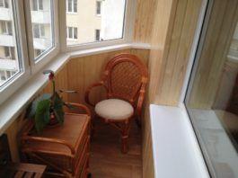 отремонтированный балкон