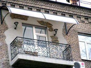 козырек балкона