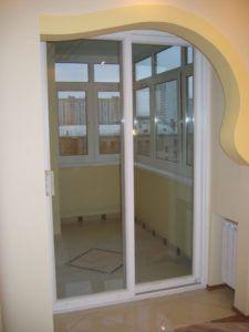 стекло дверь