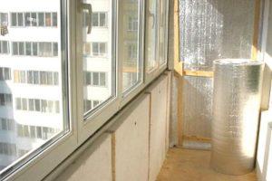 балкон с утеплителем