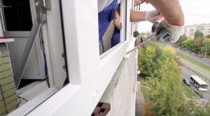 Устанавливаем балконную раму