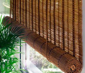 штора из бамбука
