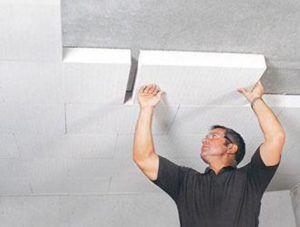 Утепление потолочной плиты