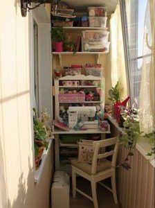 кабинет узкая лоджия