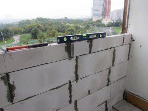 пеноблоки на балконе