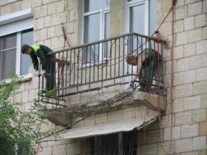 износ плиты балкона