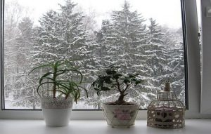 балкон зимой