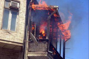 пожар от мангала