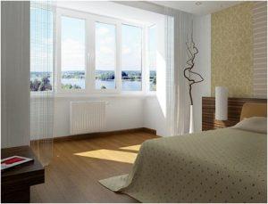 балкон и комната