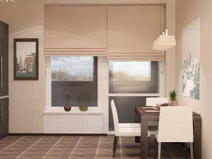 римские шторы балкон