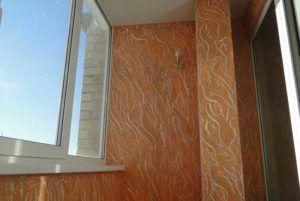 штукатурка балкон