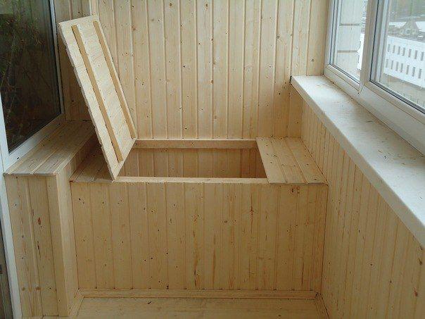 Ящик для хранения овощей на балконе зимой своими руками