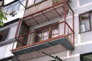 швеллер на балконе