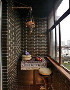кирпич балкон