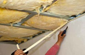 минвата на потолок