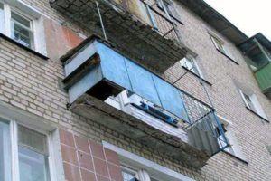 авария балконная плита